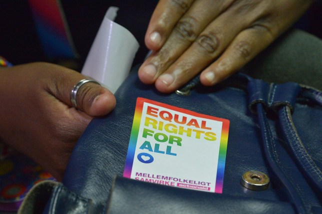 (FILES) In this file photo taken on February 22, 2019, an LGBT activist attends a court hearing in the Milimani high Court in Nairobi. - Botswana's high court is expected to rule on June 11, 2019 on whether to decriminalise gay sex in a landmark case being watched across Africa after Kenya recently upheld its own anti-homosexuality laws. (Photo by SIMON MAINA / AFP)SIMON MAINA/AFP/Getty Images
