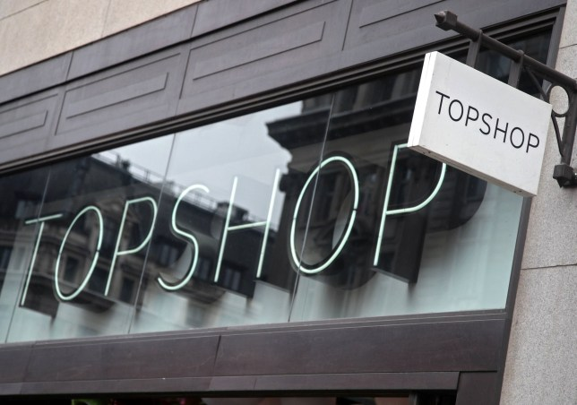 a branch of Topshop on Oxford Street, central London
