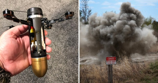 Flying 'drone grenade' is the future of airborne weaponry