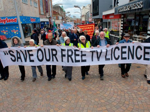 Hundreds of thousands of furious viewers petition to save free TV licence for over-75s