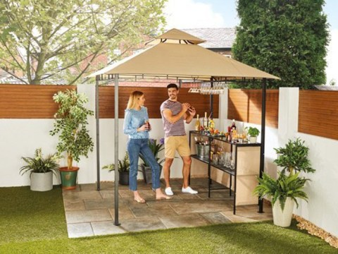 Aldi is selling a gazebo with a bar and it's perfect for summer parties