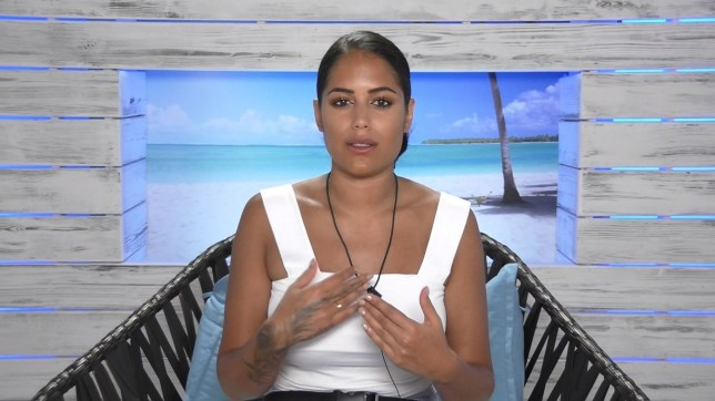 Editorial use only Mandatory Credit: Photo by ITV/REX (5768753v) Cara De La Hoyde's loyalties are torn. Malin Andersson decided she had to talk to someone about her feelings for Terry Walsh and cCara De La Hoyde to talk to Cara 'Love Island', Series 2 TV show, Episode 05, Mallorca, Spain - 2016