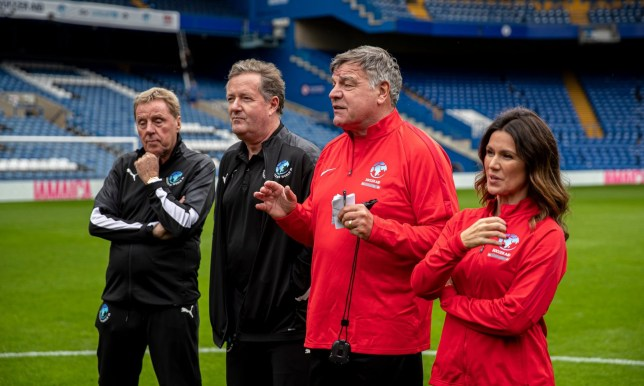 Harry Redknapp, Piers Morgan, Sam Allardyce and Susanna Reid as the managers of Soccer Aid 2019