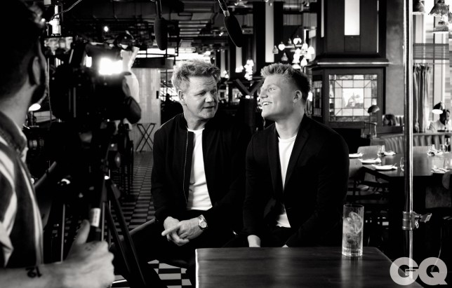 Father & Son images in July's British GQ Gordon Ramsey GORDON RAMSAY IMAGE CREDIT: HAMISH BROWN