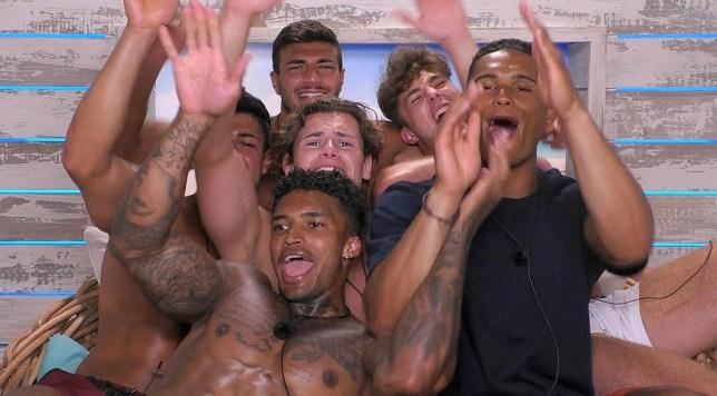 Love Island boys go on a spa day