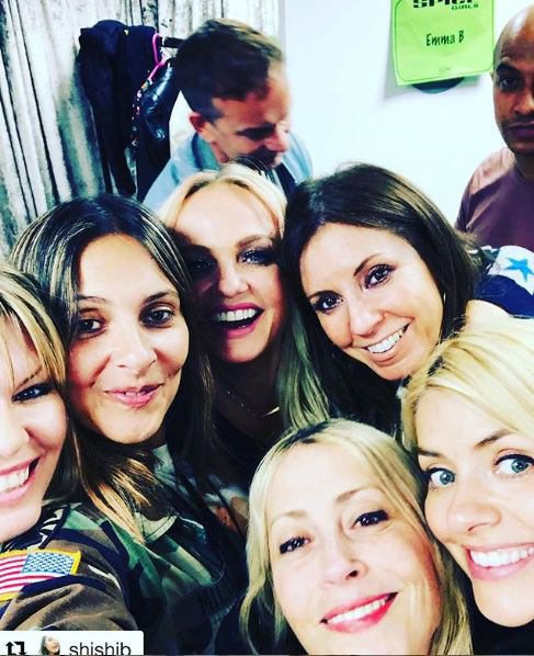 Holly Willoughby at Spice Girls concert