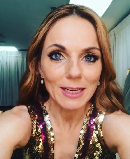 Geri Horner backstage after Spice Girls show