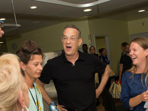Tom Hanks and Woody surprise young hospital patients with special Toy Story 4 screening