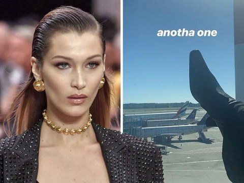 Bella Hadid apologises as she's accused of 'racism' and 'kicking planes with Saudi and UAE flags'