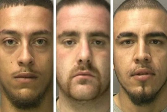 """This was the horrifying moment a man climbed from one flat to another - before """"viciously"""" pulverising a man to death with a dumbell. Wayne Kendall climbed from his own flat in Bloxwich Road South, Willenhall into the home of victim Kevin Shepperson who lived directly above. caption: L to R: Wayne Kendall, Camerron Mackenzie and Nazeem Kendall"""