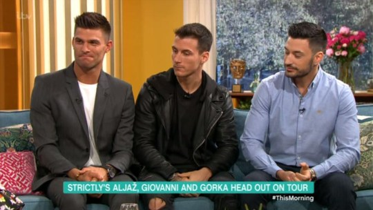 Aljaž Škorjanec,Gorka Marquez and Giovanni Pernice on This Morning