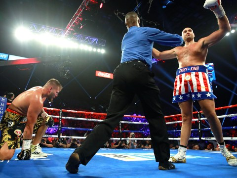 Tyson Fury makes statement with knockout win over Tom Schwarz on Las Vegas debut