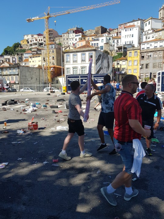 Litter after the UEFA England match