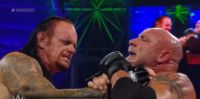 The Undertaker and Goldberg struggled in their match at WWE SuperShowdown