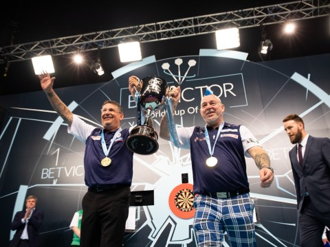 Peter Wright reveals secret to Scotland's World Cup of Darts success with Gary Anderson