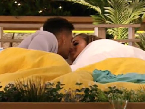 Love Island's Amber Gill locks lips with Michael Griffiths after days of dancing around each other
