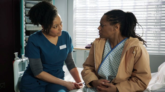 Donna helps out in Holby City