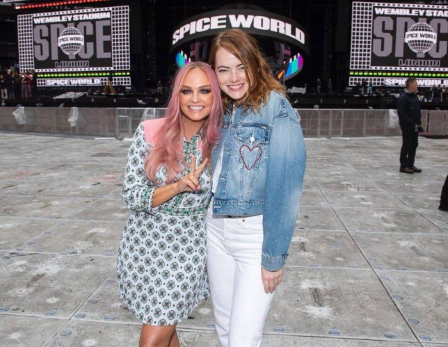 Emma Bunton and Emma Stone at Spice Girls' Wembley