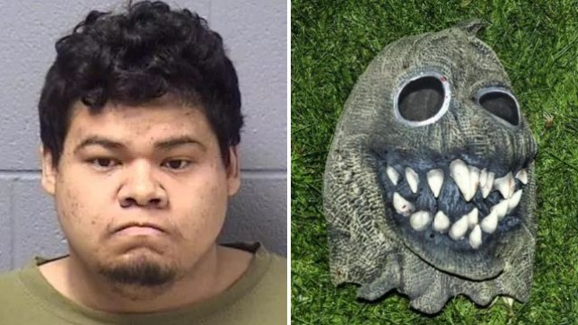 Ederaldo Frantz, stabbing, demonic mask, Halloween theme, Will County, Illinois