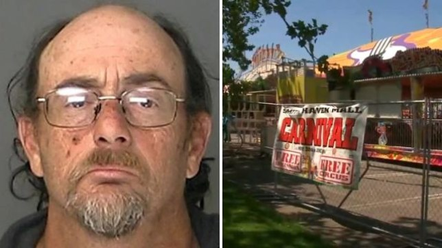 Louis Shelton is accused of molesting a seven year-old girl while strapping her into a carousel at the carnival where he worked while it visited a Long Island mall