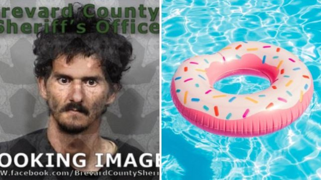 Christopher Monnin reportedly stole 75 inflatable pool floats to have sex with, then told police who arrested him that he'd only done so to stop himself raping women