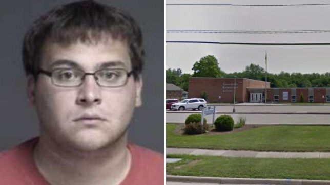 John Austin Hopkins has been charged with molesting 28 girls aged six and seven while working at Clearcreek Elementary School in Ohio