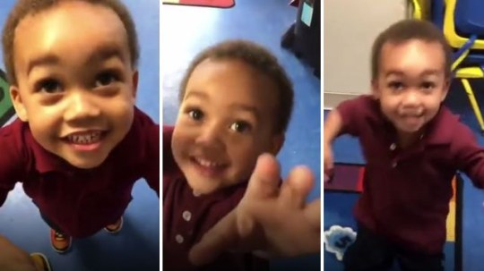 Projex Santana shared a gorgeous compilation video of his young son's excitement at seeing him come to collect him from school each day
