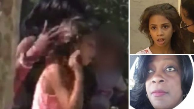 Mercedes Holmes was filmed being yanked and shoved by a woman believed to be her babysitter Yolanda Keith