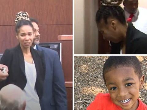 Mom who 'killed son, 3, during game of chicken' screeches and wails as she's thrown in jail