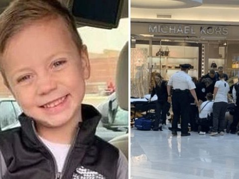 Boy, 5, hurled from mall balcony is now back in school and 'walking perfectly'