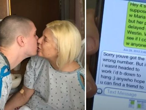 Businesswoman, 52, met husband, 22, after she texted wrong number and he began flirting