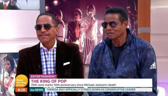 Marlon and Jackie Jackson on Good Morning Britain