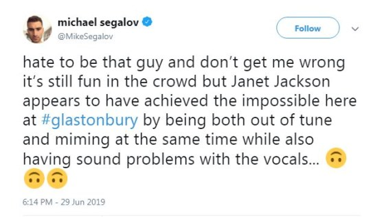 Janet Jackson leaves fans disappointed after Glastonbury