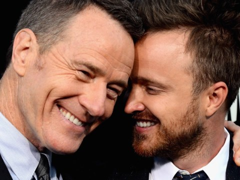 Bryan Cranston and Aaron Paul tease Breaking Bad film with matching drug mule pictures