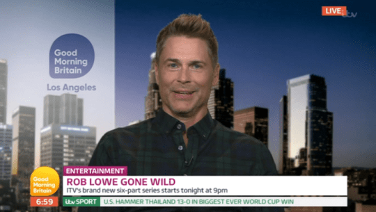 Rob Lowe on Good Morning Britain