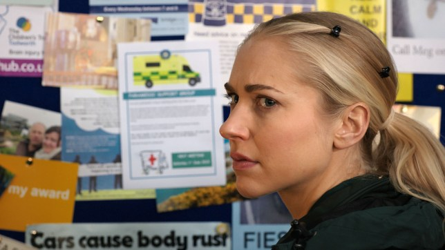 Ruby is scared in Casualty