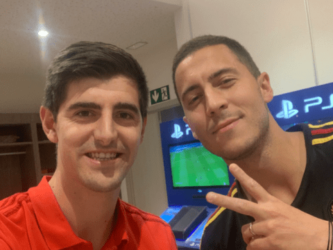 Thibaut Courtois welcomes Eden Hazard to Real Madrid after forward follows him from Chelsea