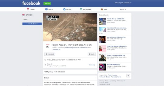 Image result for storm area 51 facebook event