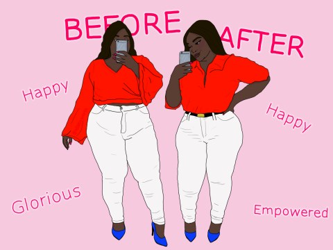 Your before and after weight loss photos are fuelling fatphobia