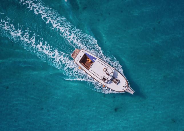 A boat trip in Ibiza