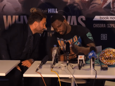 'A miracle': Eddie Hearn and Dillian Whyte recorded talking about failed drug test after Oscar Rivas fight