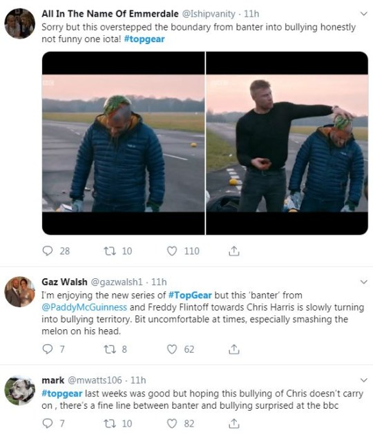 Top Gear tweet