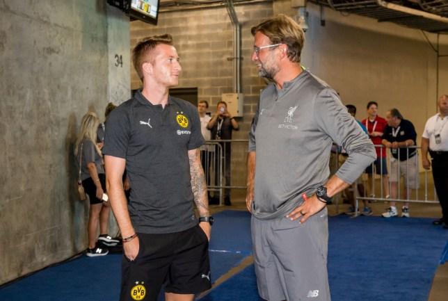 Marco Reus and Jurgen Klopp