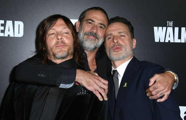 Jeffrey Dean Morgan, Norman Reedus and Andrew Lincoln