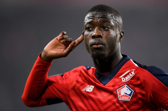 Manchester United are keen to sign Nicolas Pepe from Lille