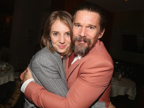 Ethan Hawke is completely bowled over by daughter Maya's Stranger Things 3 performance