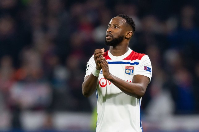 Moussa Dembele applauds Lyon's supporters