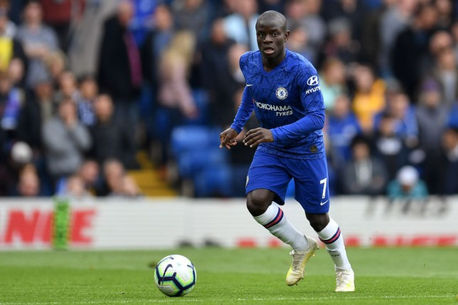 N'Golo Kante in action for Chelsea against Watford