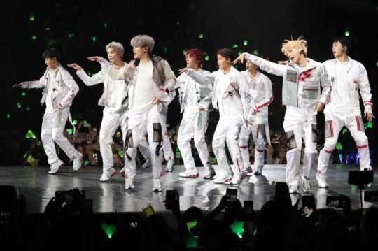 NCT 127 on stage in Russia