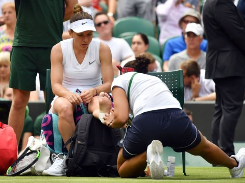 Simona Halep 'lucky' after injury scare at Wimbledon